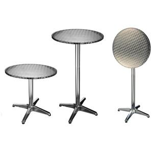 : Tisch, Edelstahl, H 67-115