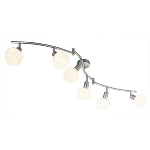 casaNOVA Retrofit Deckenlampe 6 Strahler LINA Nickelfarbig
