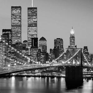 Fototapete »Manhattan Skyline at Night«, 4-teilig, 183x254 cm
