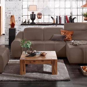 Premium Collection By Home Affaire Ecksofa »Spirit« mit Schlaffunktion, braun, komfortabler Federkern, hoher Sitzkomfort