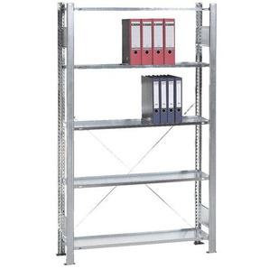 Grundelement »Steckregal Multiplus 5 OH« einfache Tiefe grau, SCHULTE Lagertechnik, 100x180x30 cm