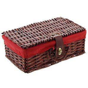 Weidenkoffer mit Textil