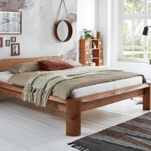 Massivholzbett TAIGA 180x200 cm Farbe Braun Pinie Massivholz Breite 206 cm