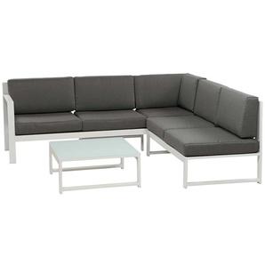 Siena Garden Filio Loungeecke 3-teilig Aluminium/Ranotex Weiß/Jeans Grau
