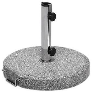 Siena Garden Schirmständer Granit, Ø 50x6cm, Gestell: Granit, poliert in grau, Fläche: Granit in grau