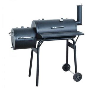Barbecue-Smoker Grill Standgrill Rucherofen, schwarz ~ klein