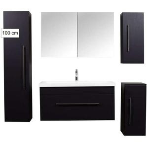 Badmöbel Ultra-Spar-Set Brilliance 1000 schwarz seidenglanz - EMOTION