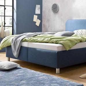 Maintal Polsterbett mit Bettkasten, blau