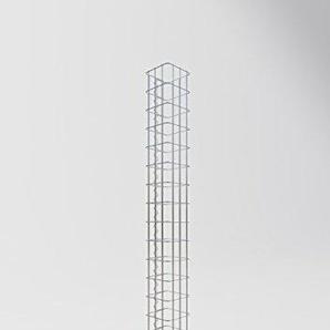 GABIONA | eckige Gabionen-Säule | befüllbare Steinkörbe | witterungsbeständiger Gitterkorb | ausgefallener Drahtkorb | made in Germany | 17 x 17 cm