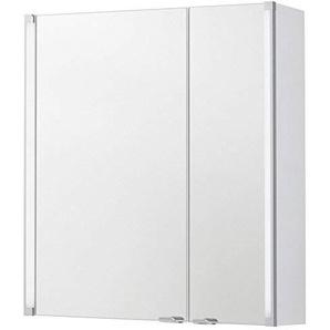 FACKELMANN Spiegelschrank Holz Silber 16,5 x 61 x 67 cm