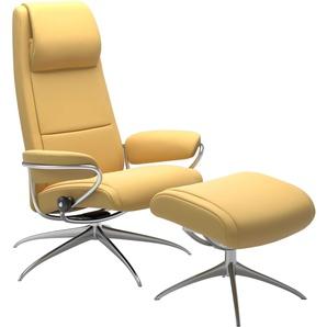 STRESSLESS Sessel mit Hocker, gelb, Leder