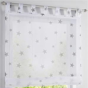 Raffrollo Sterne in weiß