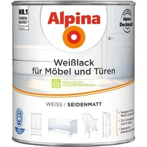 Alpina Weißlack für Möbel und Türen seidenmatt 2000 ml