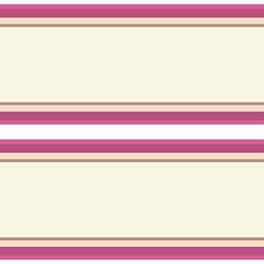 Kleisterbordüre Streifen rosa, 4-teilig 520x15cm, Tapetenbordüre, Wandbordüre, Borte, Wanddeko,mädchen, pink