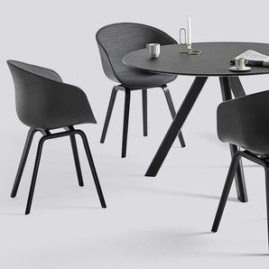 Hay Copenhague Esszimmerset Schwarz + 4 AAC22 Stühle