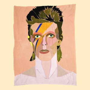 David Bowie Portrait-Fleecedecke