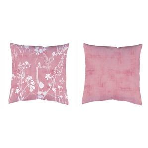 Home Wohnideen Dekokissen  »2ER KISSEN GRÄSER&STRUKTUR«, 2x 40x40 cm, lila, blickdicht