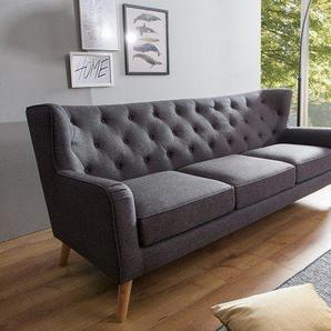 Modernes Design Sofa HYGGE anthrazit 210cm 3-Sitzer Scandiavian Design