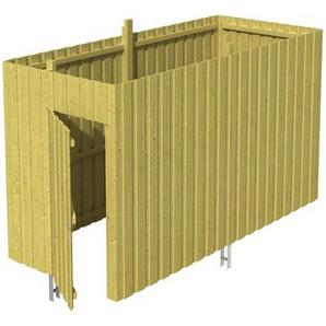 SKANHOLZ Skan Holz Abstellraum A3 für Carports 378 x 220 x 164 cm