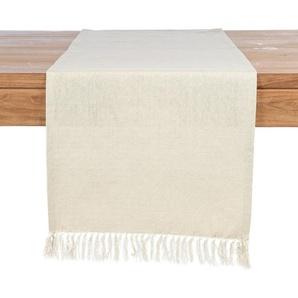 Tischläufer Fringe, Baumwolle, B:40cm x L:150cm, creme