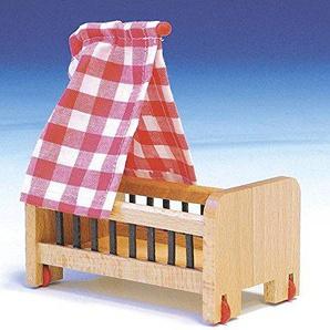 Rudolphs Schatzkiste Puppenspielzeug Puppenbett Größe 13cm Spielzeug Puppen Puppenspielzeug Puppenhaus Holzspielzeug Erzgebirge