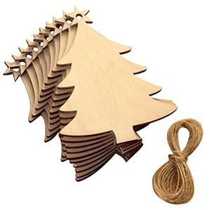 OULII Weihnachtsbaum Verzierungen von Haken Holz-Tür-Zeichen von-appendente für die Dekoration des Partei-Weihnachten 10Stück