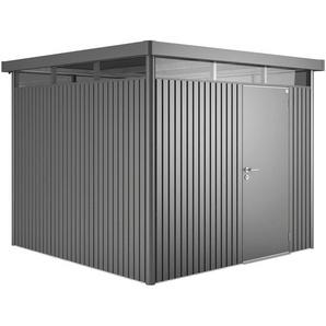 Biohort Metall-Gerätehaus HighLine H2 Dunkelgrau 275 cm x 195 cm mit Einzeltür