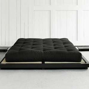 Futonbett Cimino, Kiefer schwarz, 160x200 cm