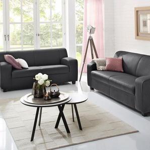 Home affaire 2-Sitzer + 3-Sitzer im Set »Fun«, klassische Polster, wahlweise mit und ohne Federkern