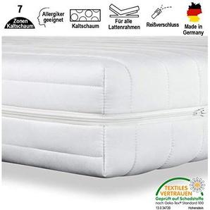 cpt hydrovital 16 Premium 7-Zonen Kaltschaummatratze (1232312) Allergiker geeignet, Härtegrad 2 in 1 H2 & H3, Bequem & Gesund schlafen - Herstellung in Deutschland (60 x 120 cm, H3)