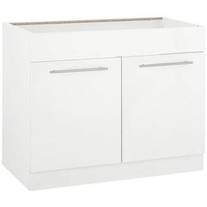 wiho Küchen Spülenschrank »Flexi2« Breite 100 cm, weiß