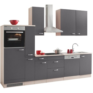 Küchenzeile ohne E-Geräte, OPTIFIT, »Faro«, Breite 300 cm