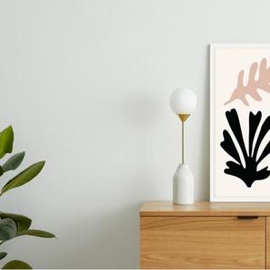 Abstract Cut Out Shapes gerahmter Kunstdruck (A2), Mehrfarbig