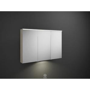Burgbad Eqio Spiegelschrank 800x1200x150 mm, 3 Türen, Eiche Dekor Flanelle