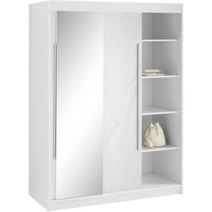 Garderobenschrank Breite 134 cm, weiß, BxHxT, »Torben«, borchardt Möbel