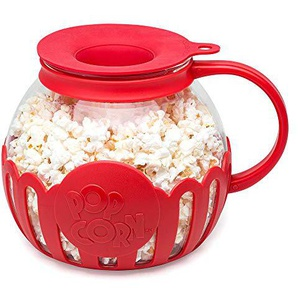 Ecolution micro-pop Mikrowelle Popcorn Popper 3 Qt - Family Size rot