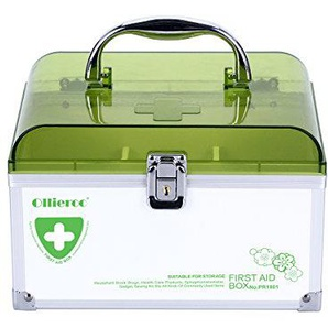 AZDENT Handled Storage Box Locking Medicine Box Cabinet Container (Single Layer)