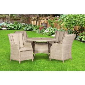 4-Sitzer Gartengarnitur Swindon mit Polster