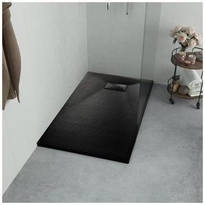 Duschwanne SMC Schwarz 100×70 cm - VIDAXL