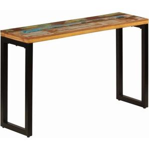 Konsolentisch 120 x 35 x 76 cm Recyceltes Massivholz und Stahl - VIDAXL