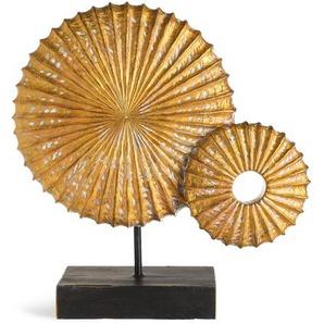Dekoobjekt rund, L:32,5cm x H:33cm, gold