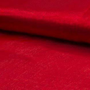CRS Fur Fabrics Kristall Organza Voile Stoff Material–Rot