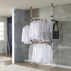 GOTOTOP Teleskopkleiderschrank für Mantel und Kleid, höhen- und breitenverstellbar (2 Querstange)