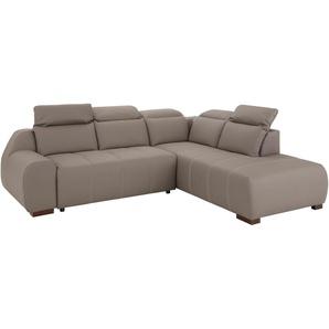 Premium Collection By Home Affaire Ecksofa »Spirit« mit Schlaffunktion, grau, komfortabler Federkern, hoher Sitzkomfort