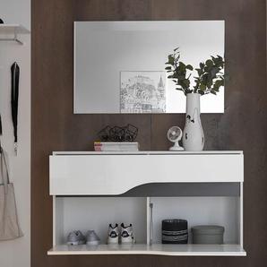 Garderobenspiegel Willa 102x60 cm Silber grosse Spiegelfläche, Spiegel