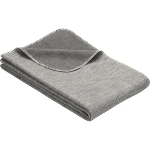 Ibena Wohndecke »Lusanne«, 70x100 cm, grau, aus 100% Baumwolle