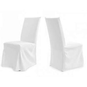 Universal Stuhlhussen - Modell Paris - Weiß