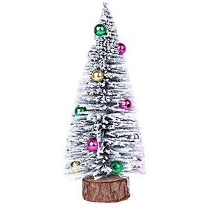 kingko® Mini Weihnachtsbaum Künstlicher Weihnachtsbaum Christbaum Grün Tannenbaum künstliche Tanne Künstlicher Weihnachtsbaum Tannenbaum Christbaum Baum Weiss Schnee (30CM)