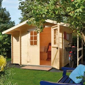 LUOMAN Set: Gartenhaus »Lillevilla 128-1«, BxT: 362x263 cm, Anbauschrank, Schleppdach + Fußboden