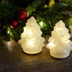 LED-Weihnachtsbaum, 2er-Set Cilja Tree weiß, Designer Sirius, 8 cm